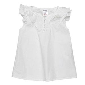 Kız Çocuk Bluz Beyaz (74 cm)