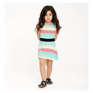 Kız Çocuk Kolsuz Elbise Çizgili (74 cm-7 yaş)