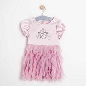 Disney Princess-2 Kısa Kol Elbise Pembe (2-7 yaş)