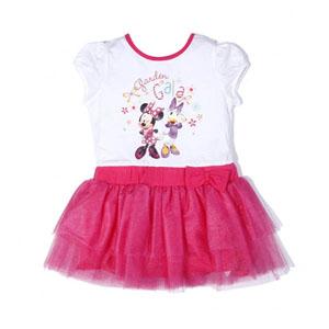 Disney Minnie Bow Tique Kız Çocuk Kısa Kol Elbise Pembe (2-7 yaş)