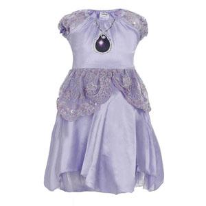 Disney Sofia Romantic Kız Çocuk Kız Kol Elbise Lila (3-8 yaş)