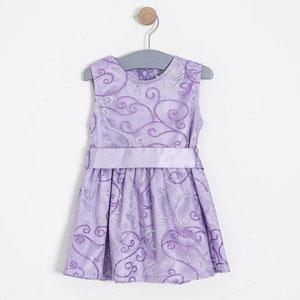 Kız Çocuk Kolsuz Elbise Lila (2-8 yaş)