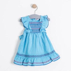 Kız Çocuk Kolsuz Elbise Turkuaz (74 cm-7 yaş)