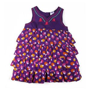 Kız Çocuk Kolsuz Elbise Koyu Mor (74 cm-7 yaş)