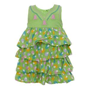 Kız Çocuk Kolsuz Elbise Yeşil (74 cm-7 yaş)