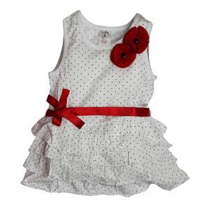 Poppy Kız Çocuk Askılı Elbise Beyaz (74 cm-7 yaş)
