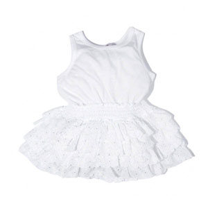 Kız Çocuk Elbise Beyaz (1-7 yaş)