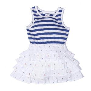 Kız Çocuk Kolsuz Elbise Marine (74 cm-7 yaş)