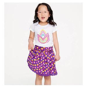 Kız Çocuk Etek Koyu Mor (74 cm-7 yaş)