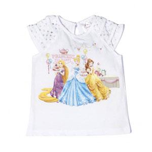 Disney Princess-2 Kısa Kol T-Shirt Beyaz (2-7 yaş)