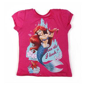 Disney Princess-3 Kısa Kol T-Shirt Fuşya (2-8 yaş)
