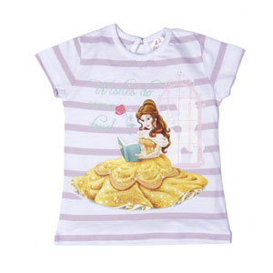 Disney Princess-3 Kısa Kolsuz T-Shirt Açık Lila (2-8 yaş)