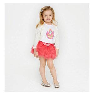 Tukip Kız Çocuk Kısa Kol T-Shirt Beyaz (74 cm-7 yaş)