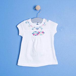 Kız Çocuk Kısa Kol Tişört Beyaz (74 cm- 7 yaş)