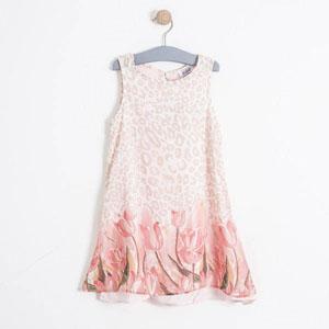 Kız Çocuk Kolsuz Elbise Kemik (7-12 yaş)