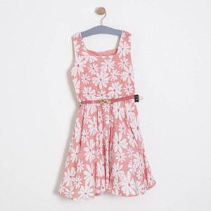 Kız Çocuk Kolsuz Elbise Gül (7-12 yaş)