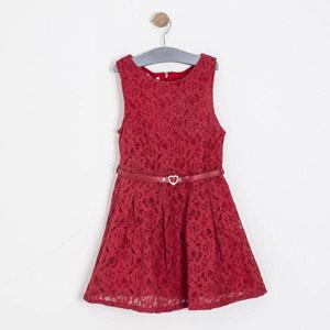 Kız Çocuk Kolsuz Elbise Kırmızı (8-12 yaş)