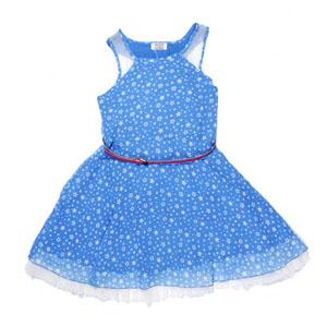 Kız Çocuk Kolsuz Elbise Cobalt (7-12 yaş)