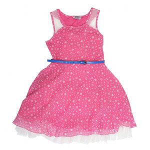 Kız Çocuk Kolsuz Elbise Pembe (7-12 yaş)