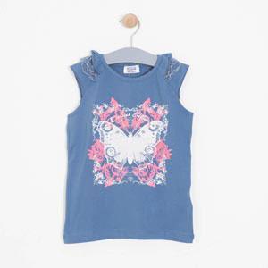 Kız Çocuk Kısa Kol T-shirt Açık Gül (7-12 yaş)