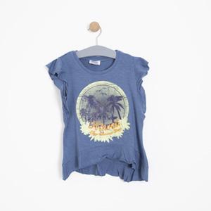 Kız Çocuk Kısa Kol Tişört Havacı Mavi (7-12 yaş)