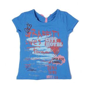 Pop Girls Kısa Kol Kız Çocuk T-Shirt Turkuaz (7-12 yaş)