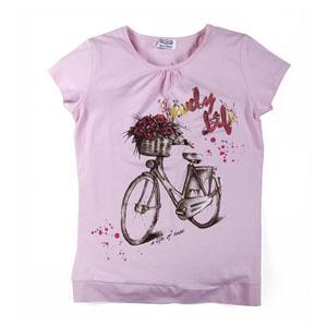 Pop Girls Kısa Kol Kız Çocuk T-Shirt Açık Pembe (7-12 yaş)