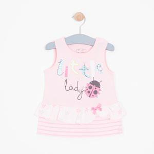 Kız Bebek Kolsuz Tişört Açık Pembe (56 cm- 3 yaş)