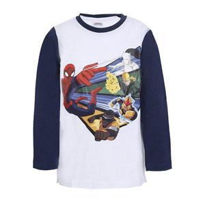 Spider-Man Erkek Çocuk Uzun Kol T-Shirt Koyu Beyaz (2-8 yaş)