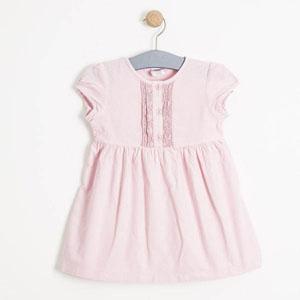 Kız Çocuk Kısa Kol Elbise Pembe (0-3 yaş)