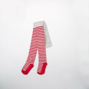 Kız Çocuk Külotlu Çorap Kırmızı Melanj