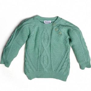 Pop Girls Kız Çocuk Kazak Yeşil (74 cm-7 yaş)
