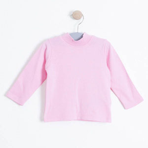 Kız Çocuk Yarım Balıkçı T-Shirt Pembe
