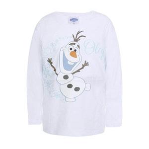 Disney Frozen Kız Çocuk Uzun Kol T-Shirt Beyaz (7-12 yaş)