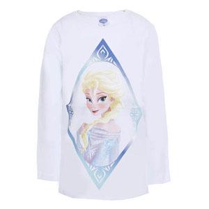 Disney Frozen Kız Çocuk Uzun Kol T-Shirt Beyaz (8-12 yaş)
