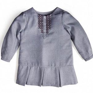 Kız Newborn Elbise Gri