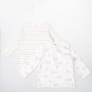 Kız Newborn İkili T-Shirt Set Ekru