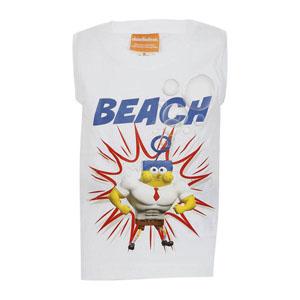 Sponge Bob Erkek Çocuk Kolsuz Tişört Beyaz (2-7 yaş)