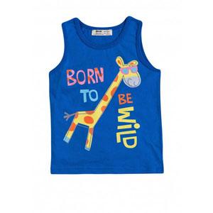 Erkek Çocuk Kolsuz Tişört Mavi (9 ay-7 yaş)