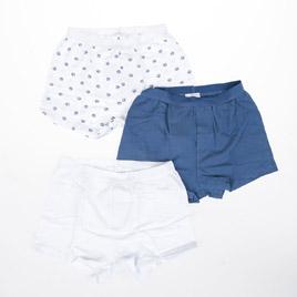 İç Çamaşır Üçlü Boxer Beyaz (18 ay-6 yaş)