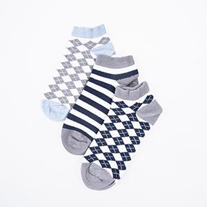 Üçlü Patik Çorap Lacivert (23-34 numara)