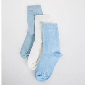 Üçlü Soket Çorap Beyaz (23-34 numara)