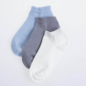 Üçlü Patik Çorap Beyaz (23-34 numara)