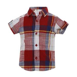 Erkek Çocuk Kısa Kol Gömlek Kırmızı (9 ay-7 yaş)