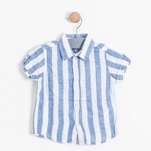 Erkek Çocuk Kısa Kol Gömlek Mavi (9 ay-7 yaş)