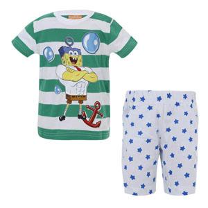 Sponge Bob Erkek Çocuk Pijama Takımı Yeşil (2-7 yaş)