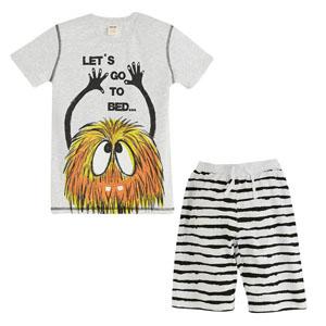 Pijama Takımı Açık Gri Melanj (2-7 yaş)