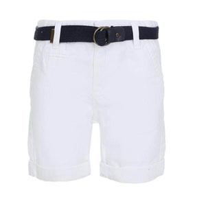 Erkek Çocuk Kemerli Şort Beyaz (3-12 yaş)