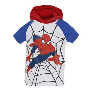 Ultimate Spider-Man Erkek Çocuk Kapüşonlu Kısa Kol Sweatshirt Beyaz (2