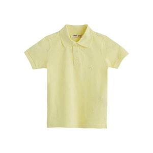 Erkek Çocuk Kısa Kol Tişört Keskin Sarı (3-7 yaş)